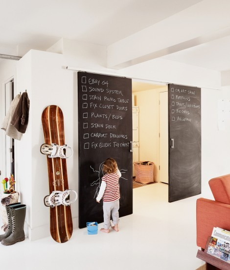 DIY-chalk-board-in-your-home-contemporary-doors