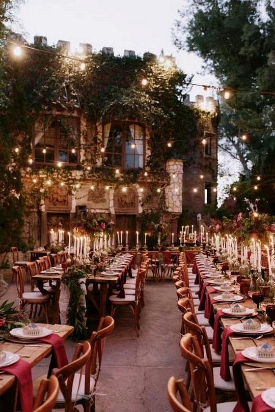 Harry potter themed wedding reception decoration ideas