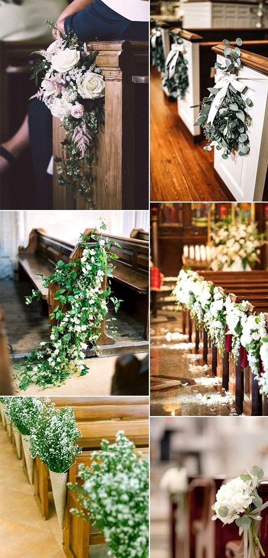 Trending church wedding aisle decoration ideas