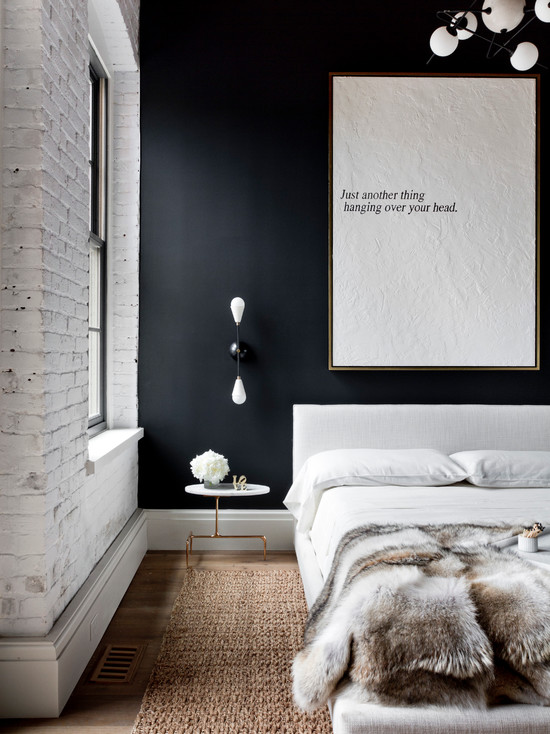 loft-style-design-ideas-black-and-white-bedroom
