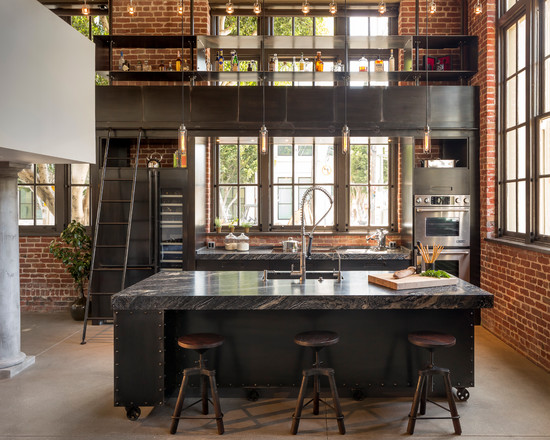 loft-style-design-ideas-iron-kitchen