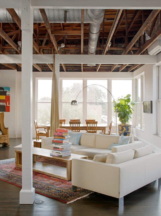 loft-style-design-ideas-wooden-living-room
