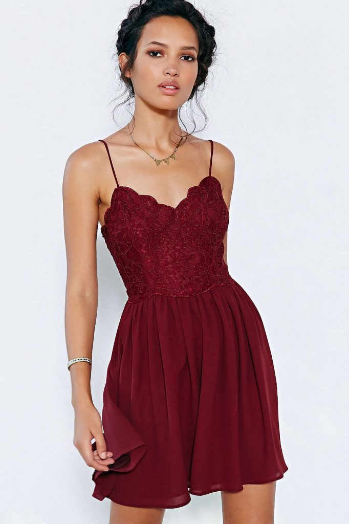 Dress-marsala-color-trend