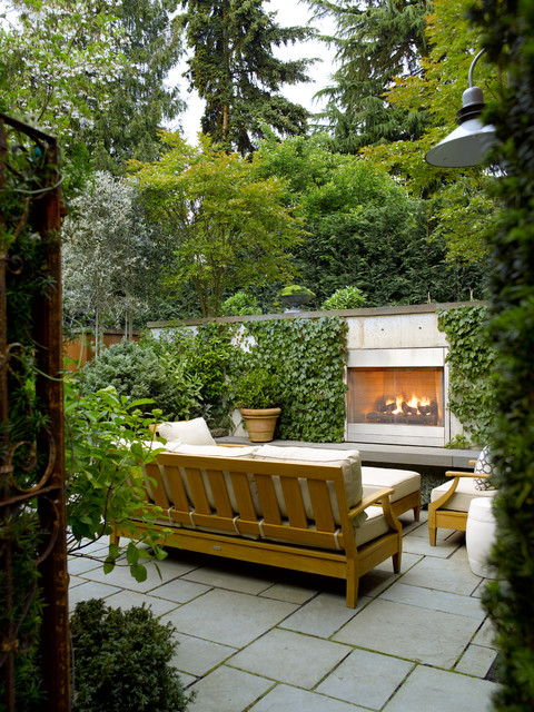 contemporary-patio-fireplace