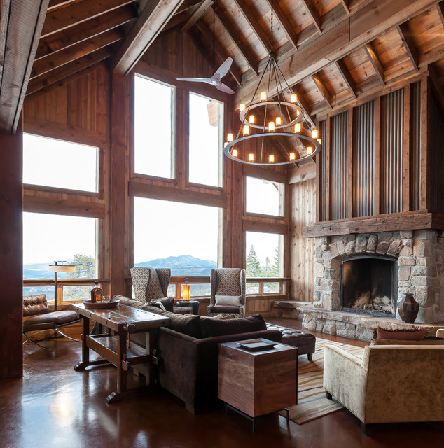 rustic-house-living-room
