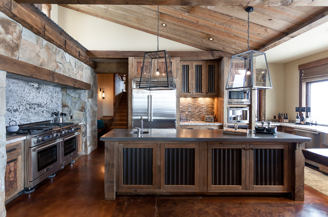 rustic-house-modern-kitchen