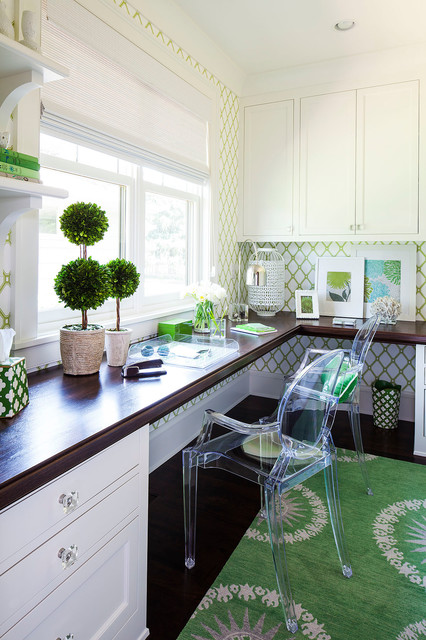 transitional-green-home-office