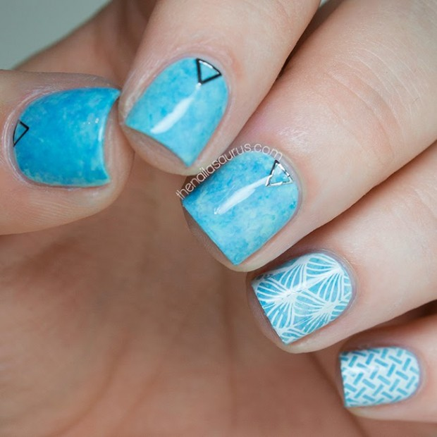 nail-art-ideas-for-spring-blue-nails