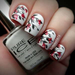 nail-art-ideas-for-spring-red-black-white