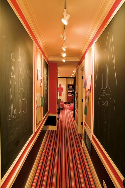 DIY-chalk-board-in-your-home-eclectic-hallway