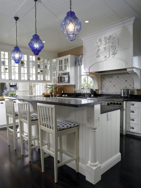 home-decor-with-lantern-traditional-white-kitchen