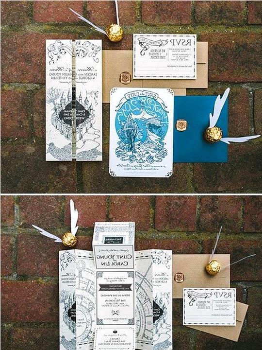 Harry potter themed wedding invitations 2
