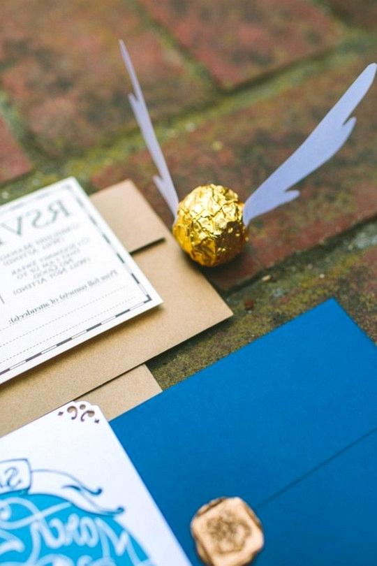 Harry potter themed wedding invitations