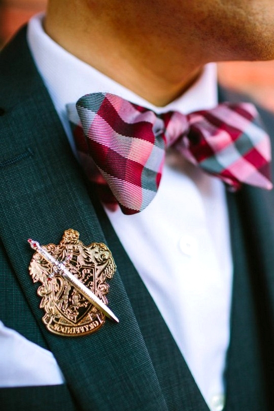 Grooms attire inspired by harry potter