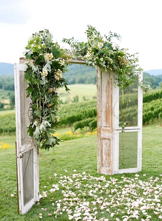 Rustic Wedding Arch.Rustic Floral Decorated Wedding Arch Ideas With Door Decoholic Girl
