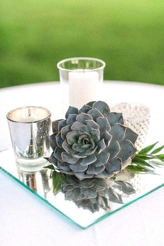 Succulent summer wedding centerpiece ideas