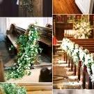 18 Church Pew Ends Wedding Aisle