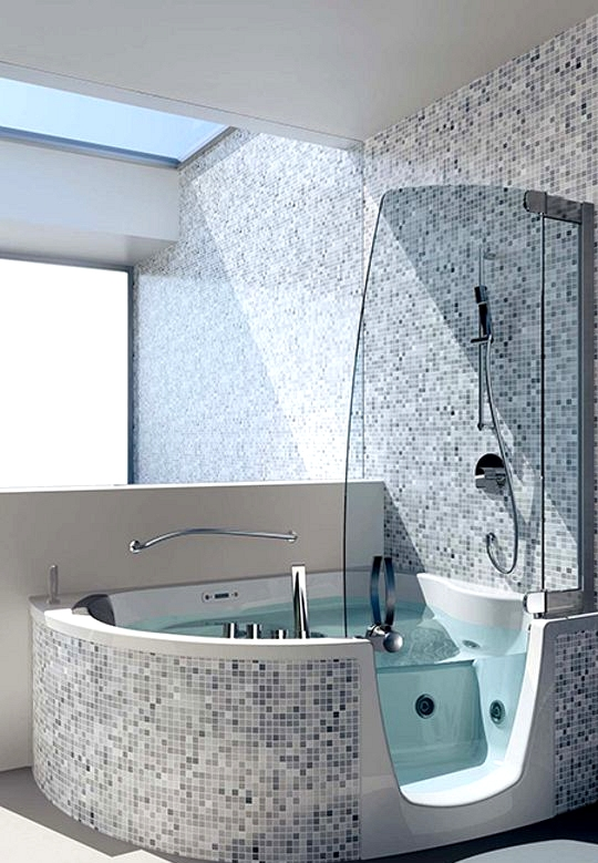 Stand In A Simple And Futuristic Bathroom With Remodeling Ideas