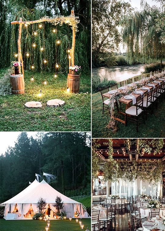 outdoor wedding decoration ideas with lights