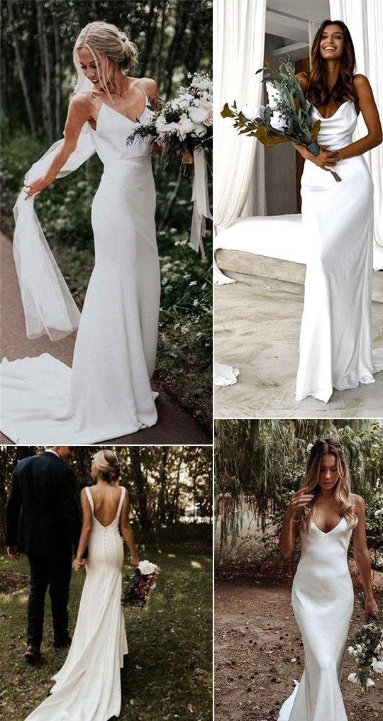 trending simple elegant wedding dresses