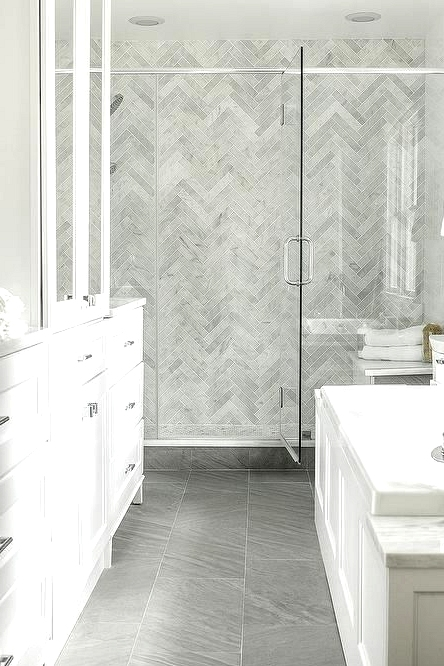 Play In Large Scale Patterns As Bathroom Remodeling Ideas
