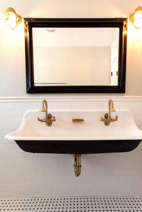 Sink Trough Model bathroom