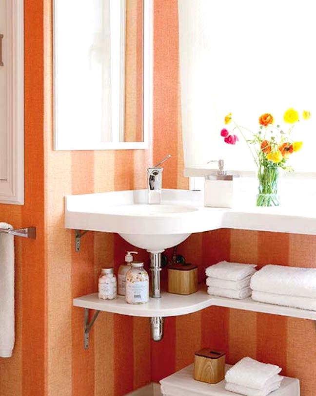 Corner Sink That Saves Space
