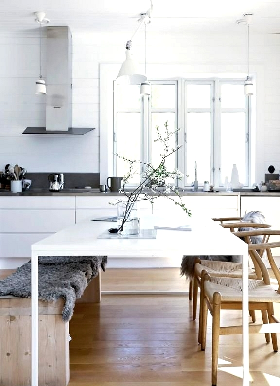 Minimalist Kitchen With Dining Table