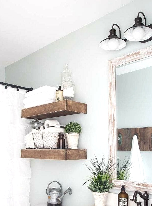 Bathroom Floating Shelves With Knob