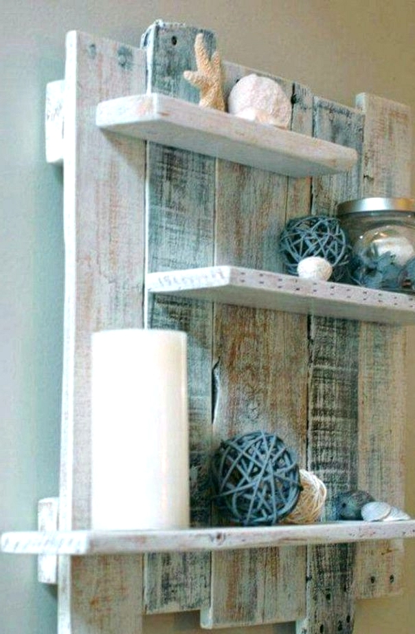 Reuse Used Goods For Bathroom Floating Shelves