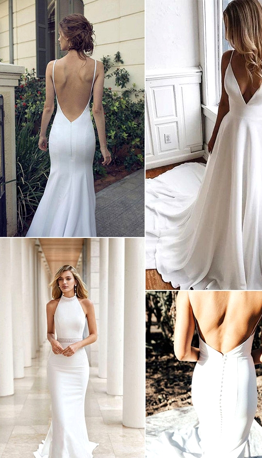 trending simple and elegant wedding dresses