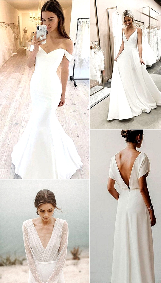 trending elegant and simple wedding dresses
