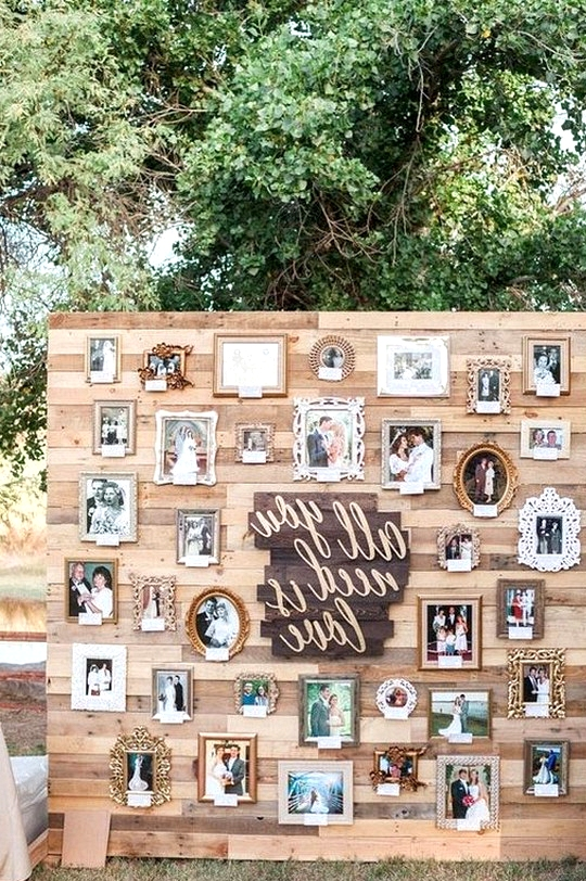 outdoor coutry rustic wedding backdrop ideas