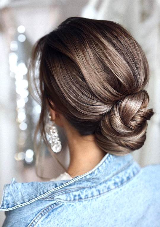 elegant updo wedding hairstyles for 2020 brides 18