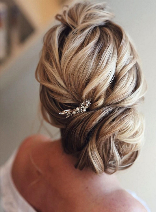 elegant updo wedding hairstyles for 2020 brides 7