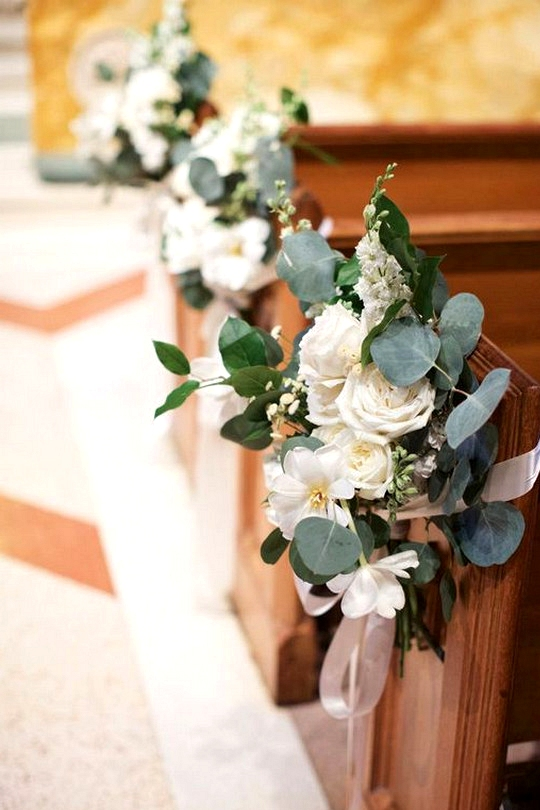 church wedding aisle decoration ideas with florals