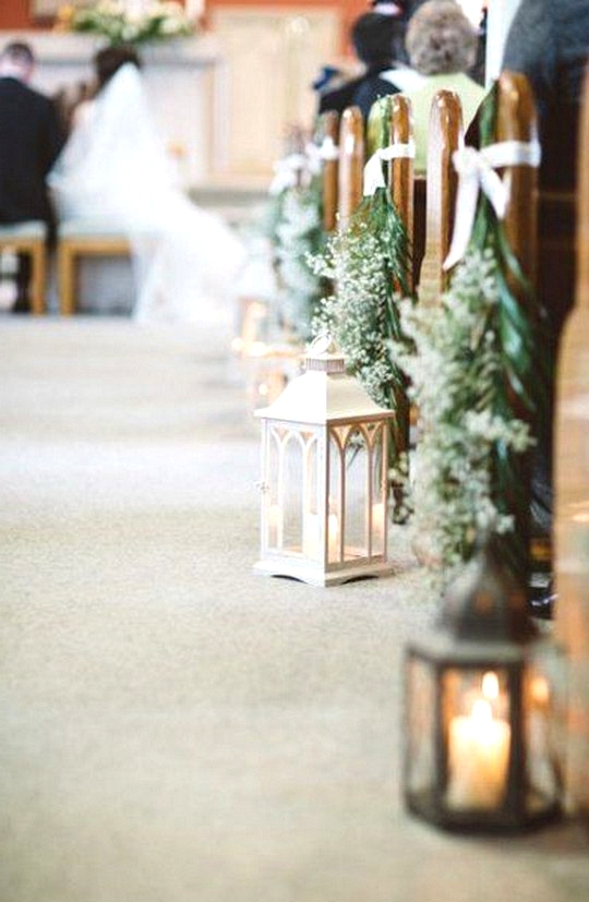 church wedding aisle decorations with lanterns
