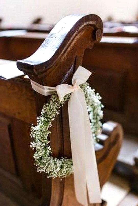 church wedding decoration ideas with baby's breath