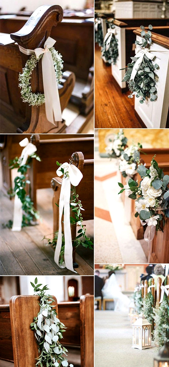 elegant church wedding aisle decorations for 2020 trends