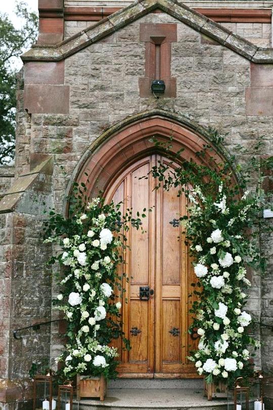 church wedding entrance decoration ideas
