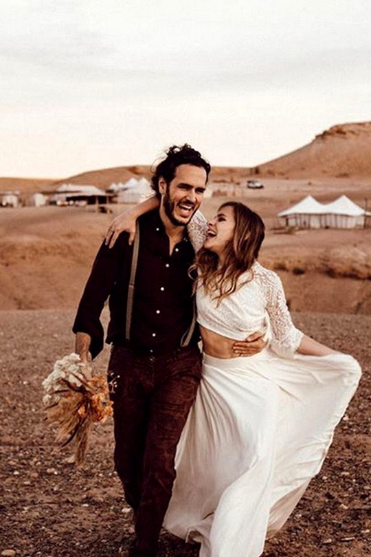 wild desert elopement wedding ideas