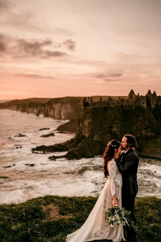 romantic sunset elopement wedding ideas