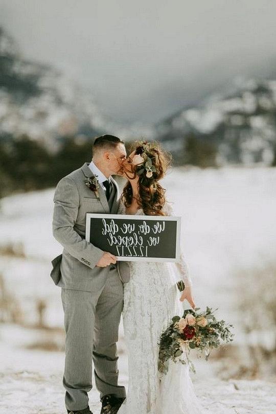 mountainside winter elopement wedding ideas
