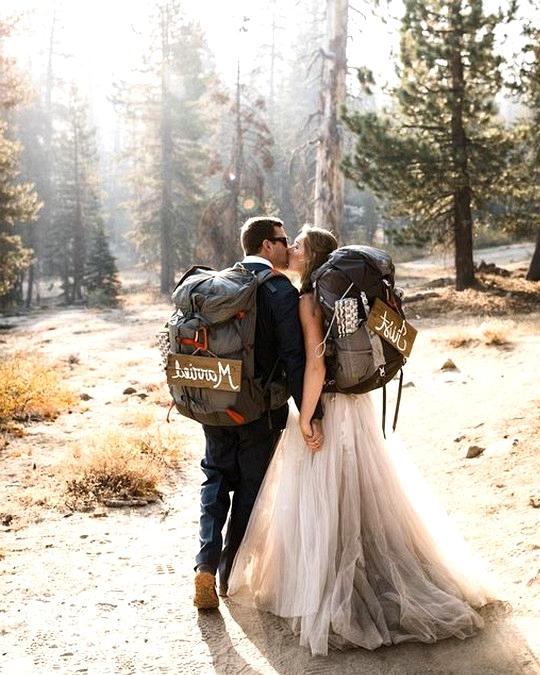hiking themed elopement wedding ideas
