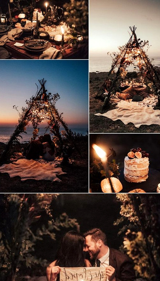 picnic themed elopement wedding ideas