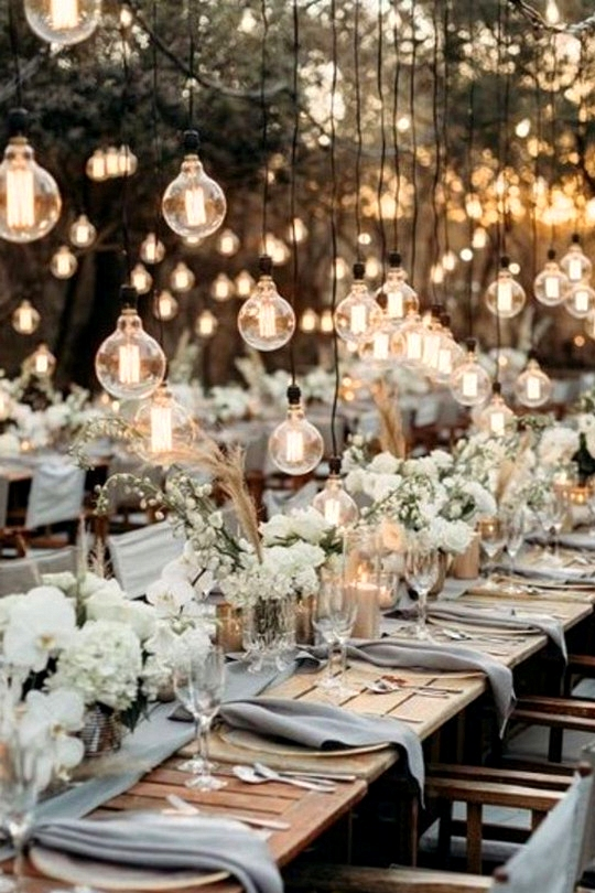 outdoor wedding reception ideas with lights