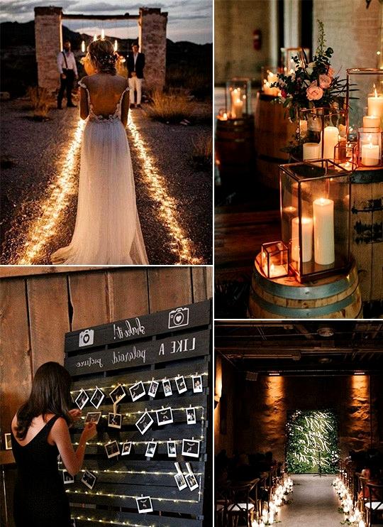 romantic rustic chic wedding lighting ideas
