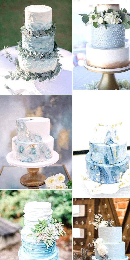 light blue wedding cakes for 2020 trends