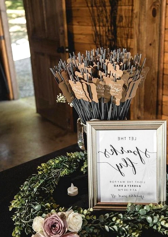 sparklers send off wedding ideas