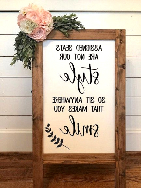creative wedding sign ideas